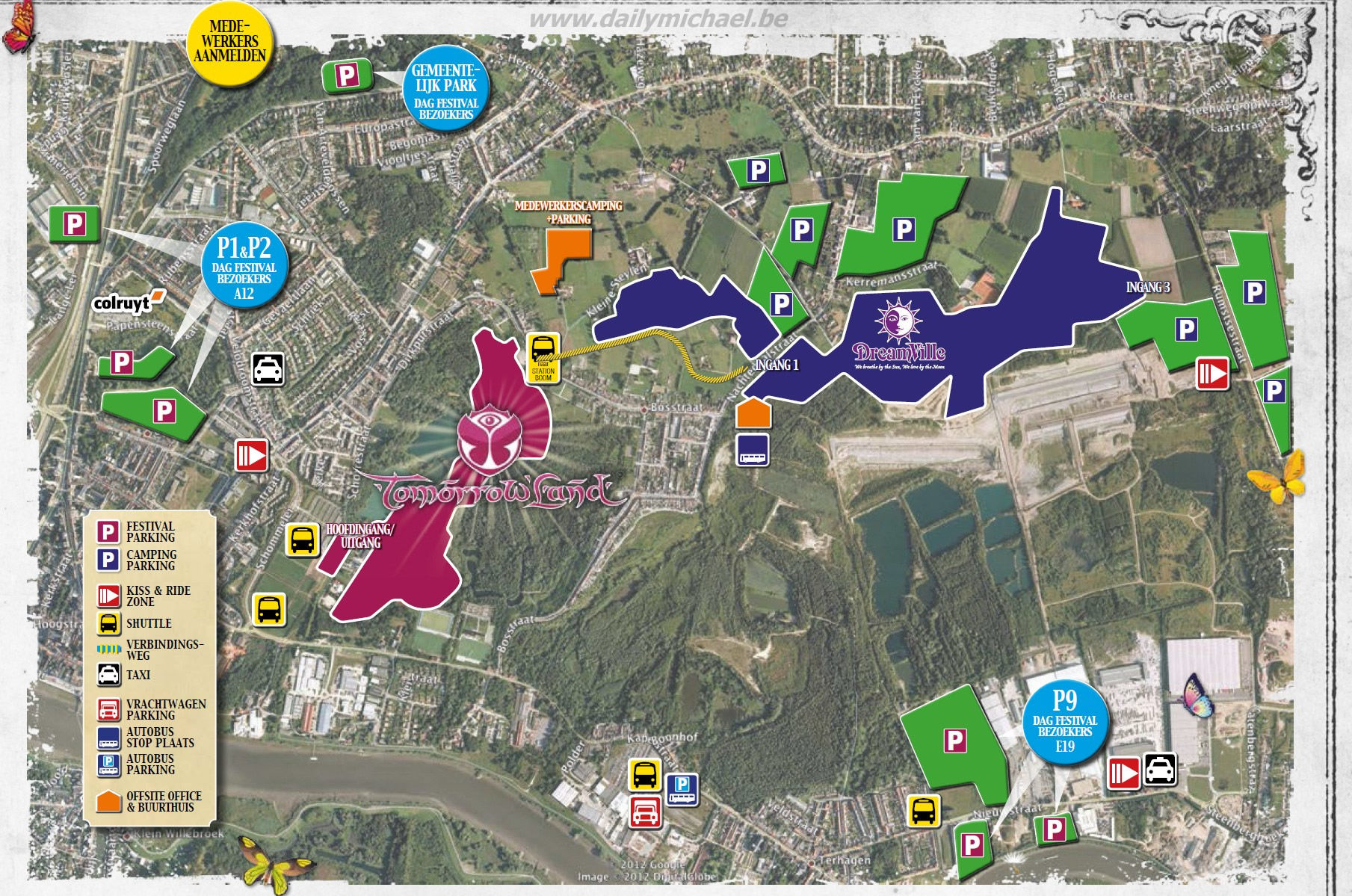 Tomorrowland 2013 Parking Map Festpop News