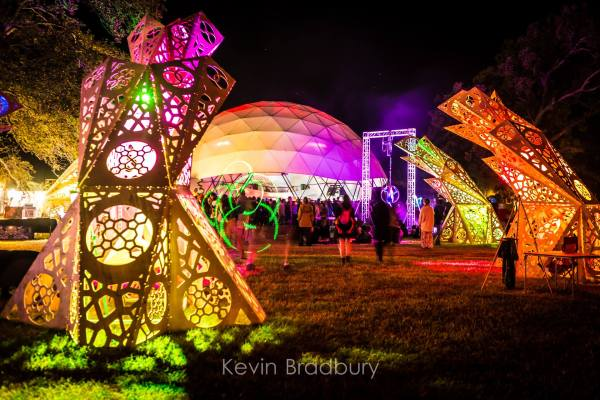 The Dome Stage and Art Installations
