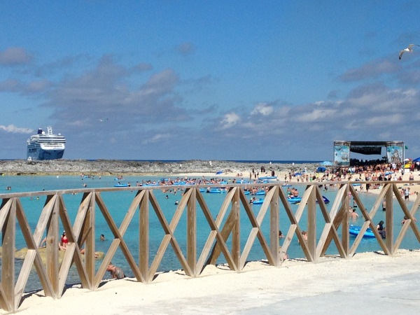 Beach Stage on Great Stirrup Cay