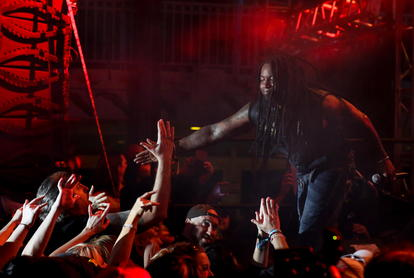 Sevendust's Lajon Witherspoon in Stardust Theater. Photo by Chris Bradshaw.