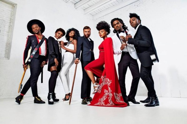 Roman GianArthur, Alex Belle and Isis Valentino of St. Beauty, Jidenna, Janelle Monae, Nate Wonder and Chuck Lightning of Deep Cotton