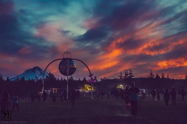 Sunset at What The Festival (Courtesy of Daniel Zetterstrom)