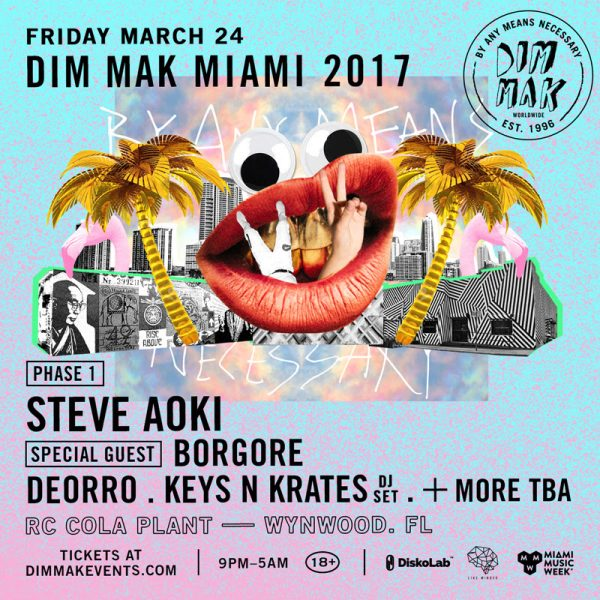 Dim Mak Miami Music Week Flyer
