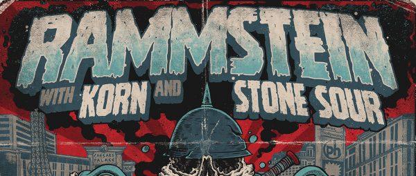 Rammstein Korn StoneSour Banner