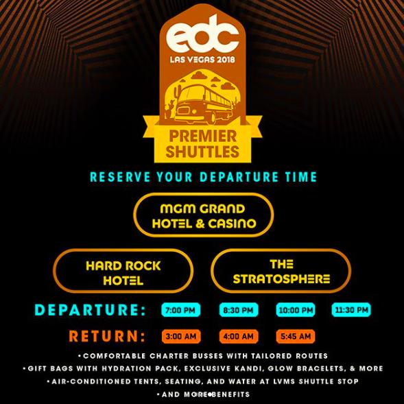 EDC Las Vegas Shuttle 2018