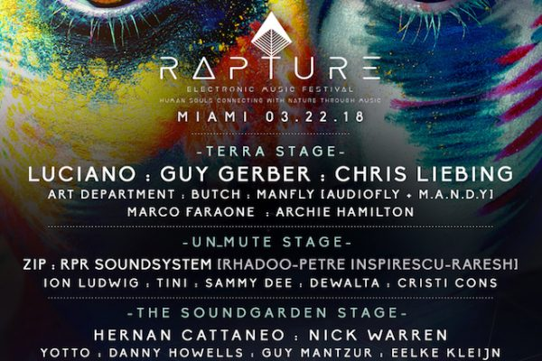 Rapture Electronic Music Festival Miami Florida March 22 Lineup Second Edition