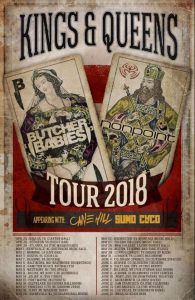 SUMO CYCO Kings & Queen Tour Dates with headliners Butcher Babies & Nonpoint with support from Cane Hill