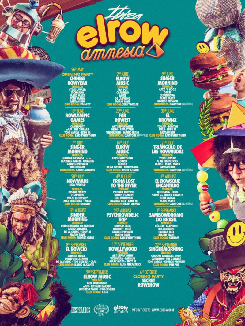 elrow 2018 season listing