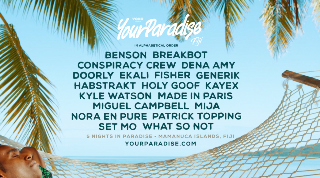 your paradise lineup