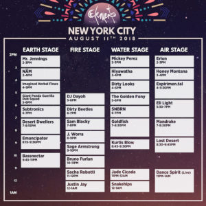 Elements NYC Set Times