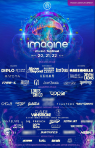 Imagine Festival 2019 Phase One Lineup Atlanta Georgia