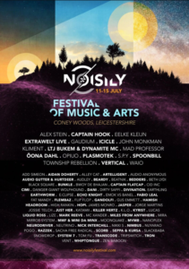 Noisily Festival of Music and Arts returns to Coney Woods in Leicestershire Full Lineup 2019