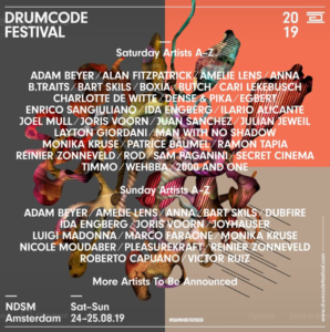 Drumcode Festival 2019 Lineup Phase One Announcemnt