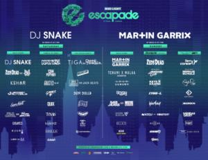 Escapade Music Festival in Ottawa Canada 2019 Lineup