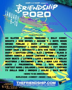 Friendship Cruise lineup 2020