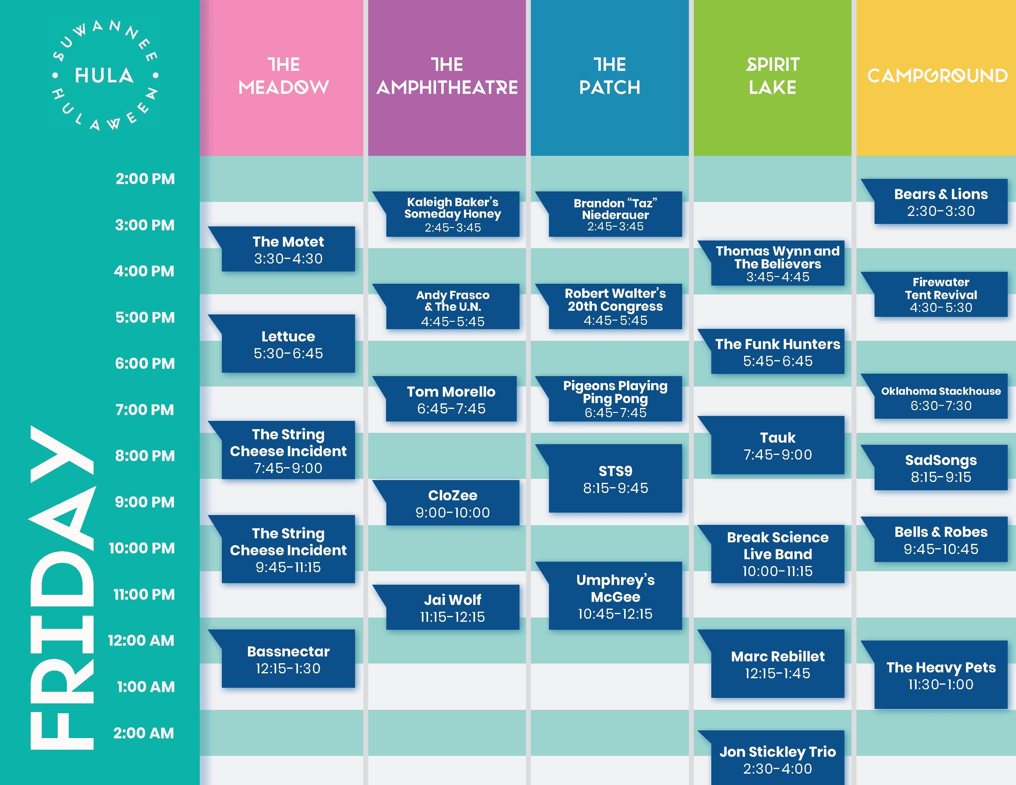 Suwannee Hulaween 2019 F Lineup