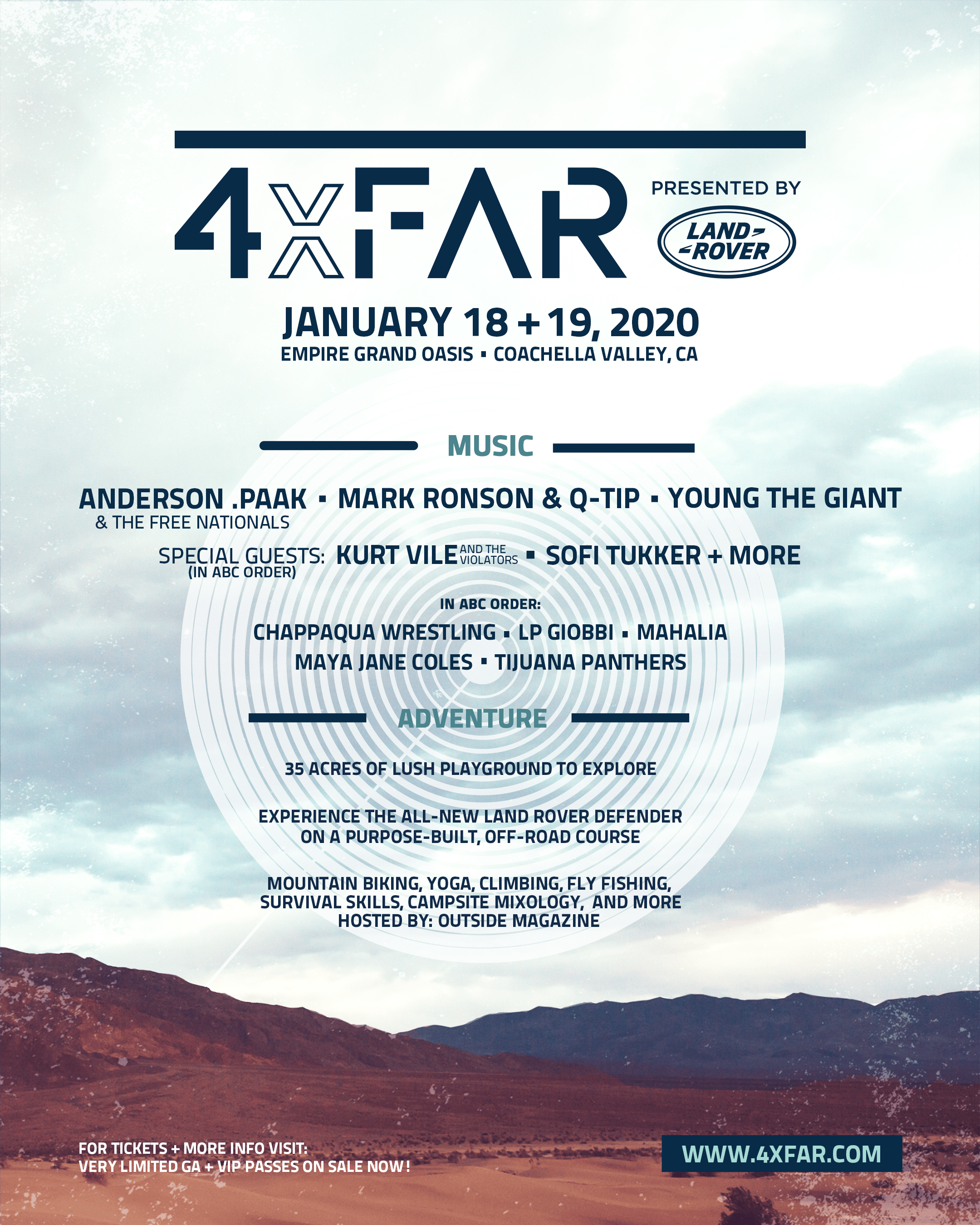 4xFAR Announces New Music Festival In Coachella Valley
